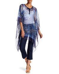 Roffe Accessories - Sheer Printed Coverup - Lyst