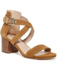 Via Spiga - Jobina Textured Suede Block Heel Sandal - Lyst