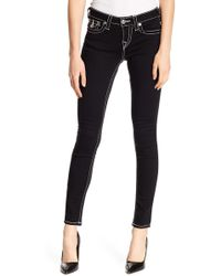 True Religion - Super Skinny Solid Jeans - Lyst