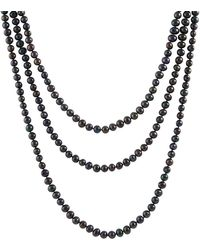 Splendid - Endless Black 8-9mm Freshwater Pearl Necklace - Lyst