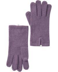 Badgley Mischka - Jersey Glove With Pearl Closure - Lyst