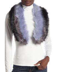 Modena - Tri-color Panel Faux Fur Scarf - Lyst