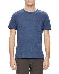 Theory - Gaskell Nebulous Slub Pocket T-shirt - Lyst
