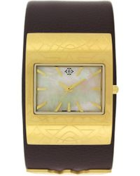 Nanette Lepore - Women's Wonder Woman Mother Of Pearl Leather Cuff Watch - Lyst
