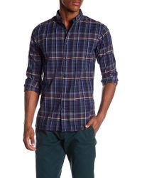 Knowledge Cotton Apparel - Checked Button Down Shirt - Lyst