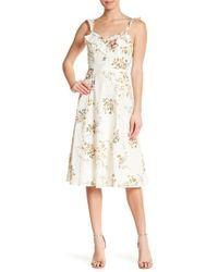 June & Hudson - Printed Lawn Floral Ruffle Dress - Lyst