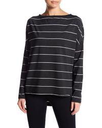 Betsey Johnson | Split Hem Stripe Pullover | Lyst