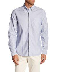 Save Khaki - Oxford Button Down Collar Regular Fit Shirt - Lyst