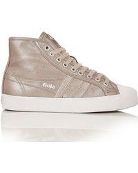 Gola   Coaster High-top Metallic Sneaker   Lyst