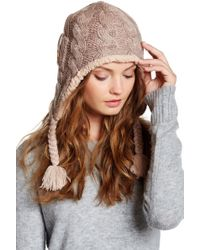 Muk Luks - Braided Cable Faux Fur Lined Helmet - Lyst