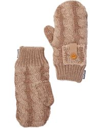 Muk Luks - Braided Cable Mittens - Lyst