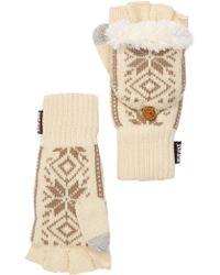 Muk Luks - Snowflake Nordic Faux Fur Lined Pop-top Gloves - Lyst