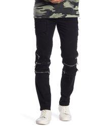 NANA JUDY - Tapered Leg Stretch Zip Jeans - Lyst