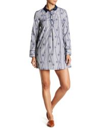BCBGeneration - Embroidered Shirtdress - Lyst