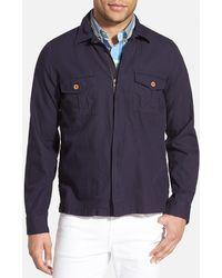 Gant Rugger Zip Shirt Jacket - Blue
