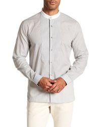 John Varvatos - Pinstripe Trim Fit Shirt - Lyst
