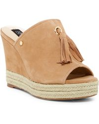 Jones New York - Ariel Tassel Platform Wedge Sandal - Lyst