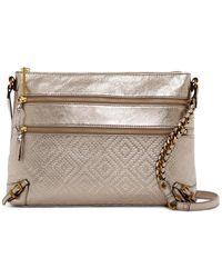 Elliott Lucca   Mari 3-zip Leather Crossbody Bag   Lyst