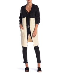 Dreamers By Debut - Colorblock Open Front Cardigan - Lyst