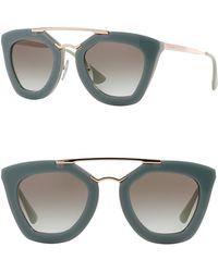 70fef63a11 ... new style prada catwalk cinema 49mm cat eye sunglasses lyst 7c22e e3879