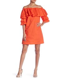 Romeo and Juliet Couture - Off-the-shoulder Tiered Ruffle Dress - Lyst