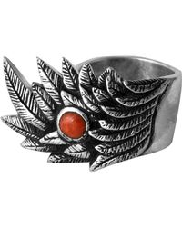 King Baby Studio - Raven Wing Coral Cabochon Ring - Lyst