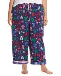 Jane & Bleecker New York - Contrast Cuff Print Flannel Trousers (plus Size) - Lyst