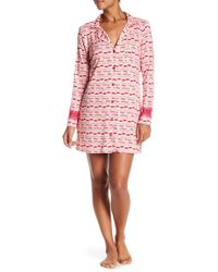 Betsey Johnson - Pucker Up Lace Trim Sleepshirt - Lyst