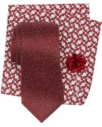 Ben Sherman - Milo Solid Silk Tie, Pocket Square, & Lapel Pin Set - Lyst