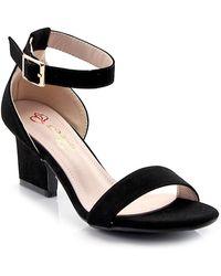 Elegant Footwear - Lorna Ankle Strap Blade Heel - Lyst