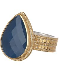 Anna Beck - 18k Gold Plated Sterling Silver Blue Topaz Ring - Lyst