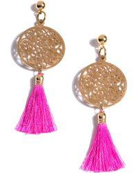 Shiraleah - Bali Filigree Tassel Drop Earrings - Lyst