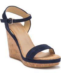 Stuart Weitzman Jezebel Suede Wedge Sandals