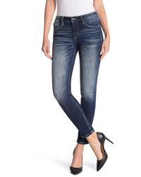 Miss Me Select Standard Ankle Skinny Stretch Jeans - Blue