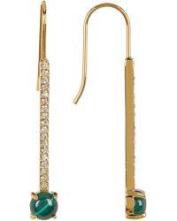 Botkier - Dangling Pave Semi-precious Stone Bar Earrings - Lyst