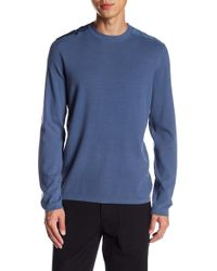 Theory - Contrast Crew Neck Pullover - Lyst