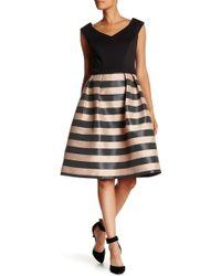 Ignite - Horizontal Stripe Party Dress - Lyst
