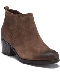 4d054529c7d Rockport - Danii Side Zip Leather Ankle Bootie - Wide Width Available - Lyst