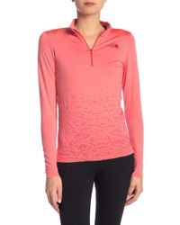 The North Face - Seamless 1/4 Zip Tee - Lyst