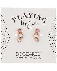 Dogeared - 14k Rose Gold Vermeil Playing It By Ear Stud Earrings - Lyst