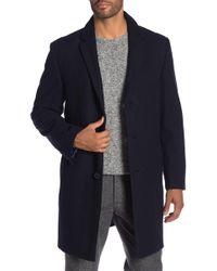 9170de89e24 Lyst - Hart Schaffner Marx Men s Polyester Coat Navy Blue in Blue ...