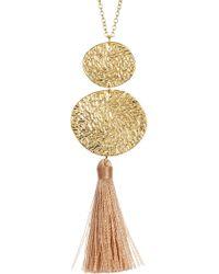 Gorjana - Phoenix Hammered Circle Tassel Pendant Necklace - Lyst