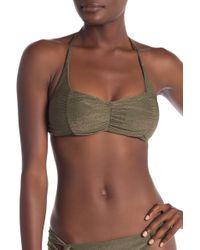 SOLUNA - Metallic Halter Bikini Top - Lyst