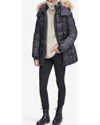 Andrew Marc - Riverdale Short Faux Fur Trim Jacket - Lyst
