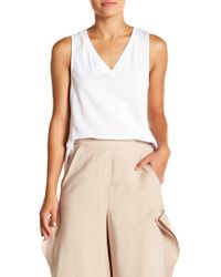 BCBGeneration - Mixed Media Seamed Top - Lyst