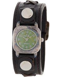 Peyote Bird - Women's Kingman Sterling Plated Turquoise Leather Strap Watch, 25mm - Lyst