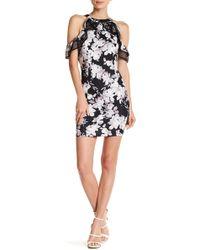 Bebe - Ruffle Floral Dress - Lyst