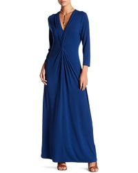 Tommy Bahama - 3/4 Sleeve Tambour Front Twist Maxi Dress - Lyst