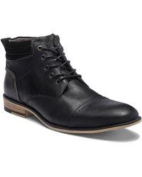 Steve Madden - Kontac Leather Cap Toe Boot - Lyst
