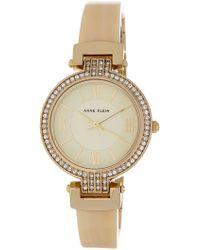 Anne Klein - Women's Swarovski Crystal Embellished Resin Bracelet Watch, 31.5mm - Lyst